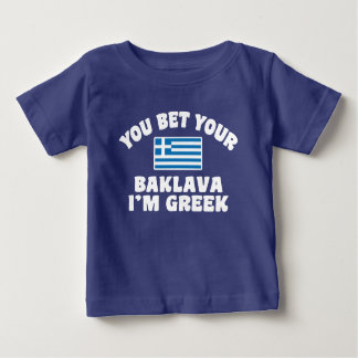 You Bet You Baklava I'm Greek Baby T-Shirt