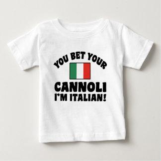 You Bet Your Cannoli I'm Italian Baby T-Shirt