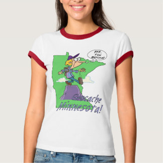 You Betcha! Minnesota Cacher Ladies Ringer T-Shirt