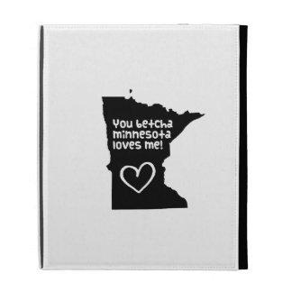 You Betcha Minnesota Loves Me iPad Folio Cases