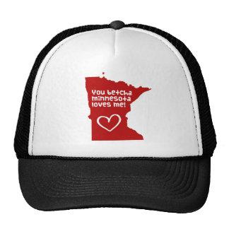 You Betcha Minnesota Loves Me Mesh Hats
