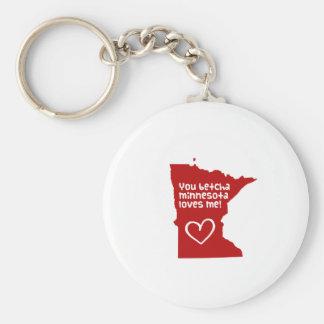 You Betcha Minnesota Loves Me Keychain