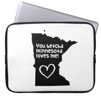 You Betcha Minnesota Loves Me Laptop Sleeve