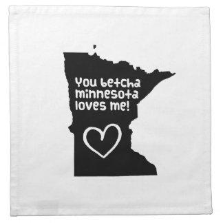 You Betcha Minnesota Loves Me Napkin