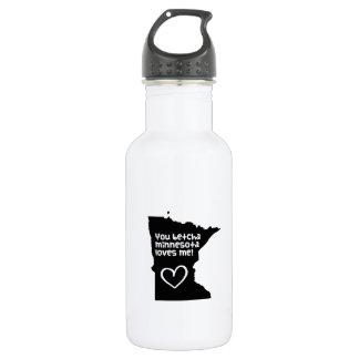 You Betcha Minnesota Loves Me 18oz Water Bottle