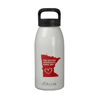 You Betcha Minnesota Loves Me Water Bottle