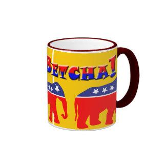 You Betcha! & Modernized GOP Elephants Coffee Mugs
