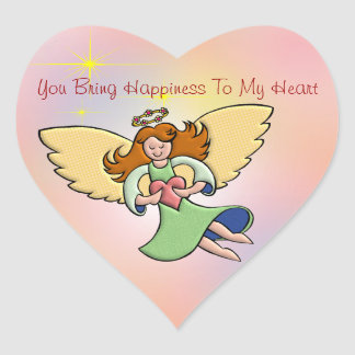 You Bring Happiness To My Heart Heart Sticker