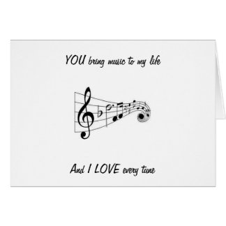 YOU BRING MUSIC TO MY LIFE--LOVING BIRTHDAY CARD