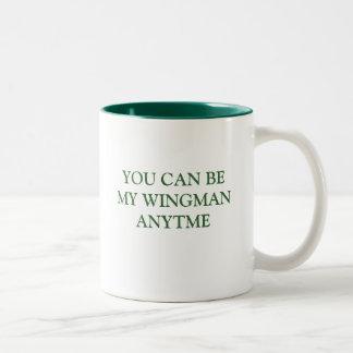 YOU CAN BE MY WINGMAN ANYTIME Two-Tone COFFEE MUG