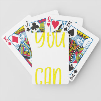 You can bicycle playing cards