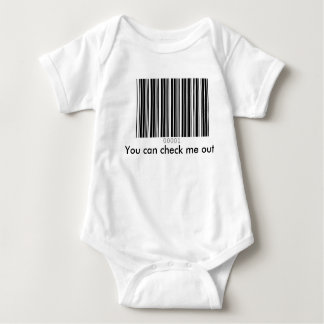 You can check me out baby bodysuit