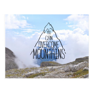 You Can Climb Mountains Postcard