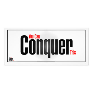 You can conquer this personalized rack card