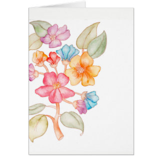 You Can Count on Me floral card