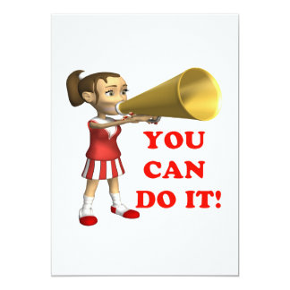 """You Can Do It 5"""" X 7"""" Invitation Card"""