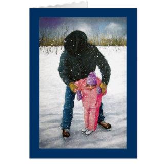 You Can Do It! Artwork, Cowboy: Winter Scene Card