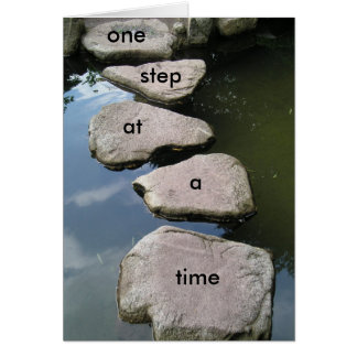 You can do it one step at a time motivation card