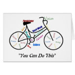 You can do This Motivational Bike, Bicycle Cycling Greeting Card