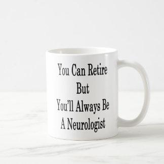 You Can Retire But You'll Always Be A Neurologist Coffee Mug