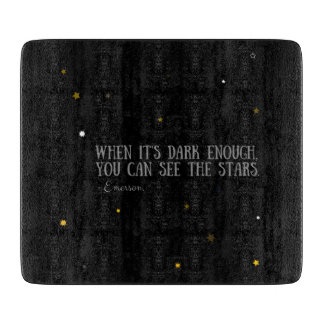 You can see the stars Emerson quote Cutting Boards