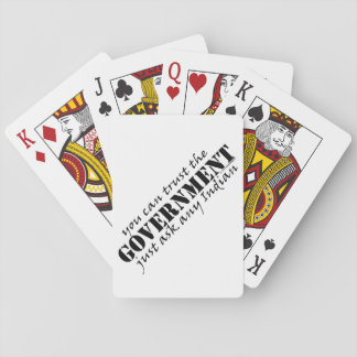 You Can Trust the Government Playing Cards