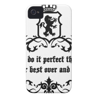 You Cannot Do It Perfect Medieval quote iPhone 4 Cases