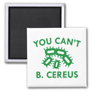 You Can't B. Cereus Square Magnet