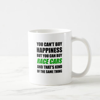 You Can't Buy Happiness But You Can Buy Race Cars Coffee Mug