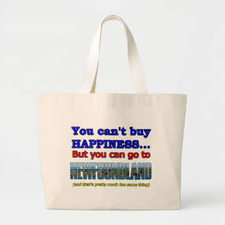 YOU CAN'T BUY HAPPINESS LARGE TOTE BAG