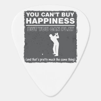 You Can't Buy Happiness Play Golf Guitar Pick