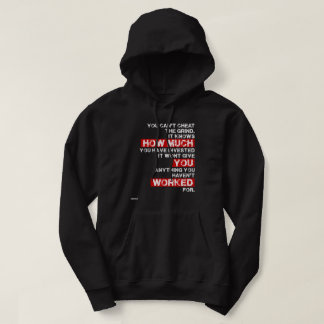 You cant cheat the grind success motivation hoodie