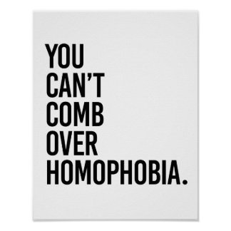 YOU CAN'T COMB OVER HOMOPHOBIA - POSTER