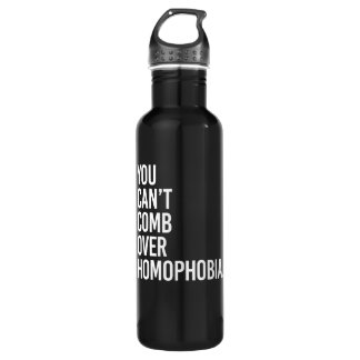 YOU CAN'T COMB OVER HOMOPHOBIA - - white - 710 Ml Water Bottle