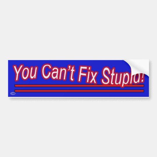 You Can't Fix Stupid Bumper Sticker