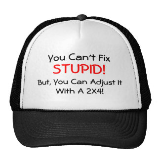 You can't Fix STUPID!, But, you can... HAT