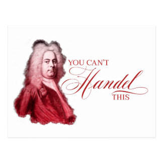 You Can't Handel This Classical Pun Valentine Postcard