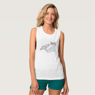You can't swim with us Mermaid Muscle Tank Top