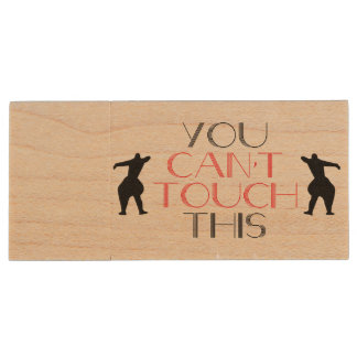 You can't touch this wooden usb wood USB 2.0 flash drive