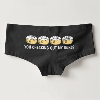 You Checking Out My Buns? Funny Cinnamon Roll Hot Shorts