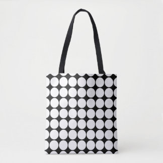 You choose background color and modern dots tote bag