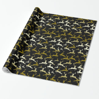 YOU CHOOSE BACKGROUND COLOR Camo Deer Wrapping Paper