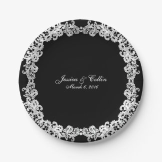 You choose background color & white lace plate