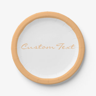 You Choose the Background Color & white border Paper Plate