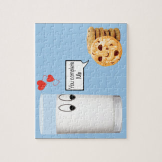 You Complete Me milk and cookies Jigsaw Puzzle