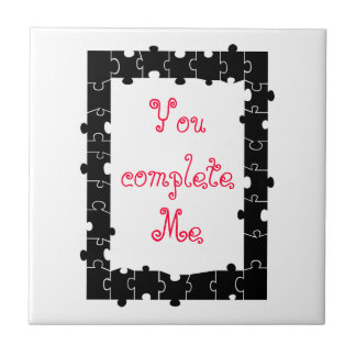 You complete me puzzle tile