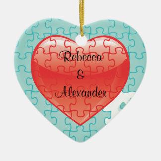 You complete me puzzle Wedding Favors Ornament