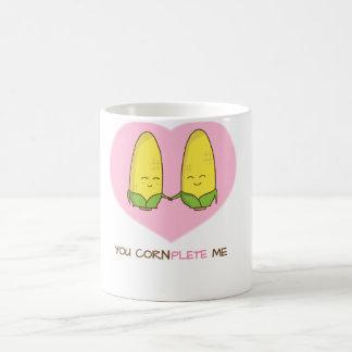 You complete me sweet loving corn couple coffee mug