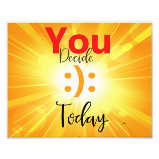 You Decide Today :): Abstract Wall Art Photo Print