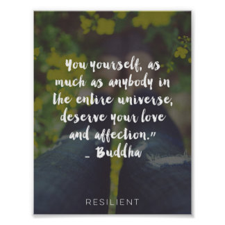 """You Deserve Love and Affection"" Cursive Quote Poster"
